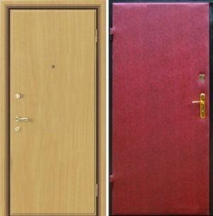 Входная металлическая дверь ламинат + винилискожа СП298